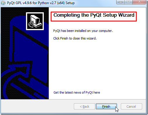 complete install pyqt