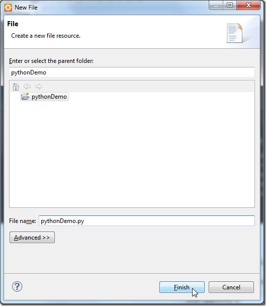 input python filename