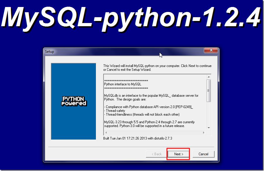 【记录】为Python安装MySQL数据库模块:MySQLdb