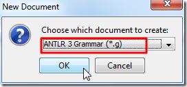 antlr 3 grammar