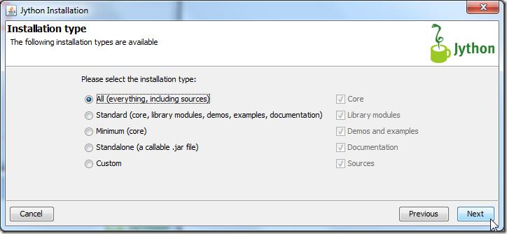 install all for jython