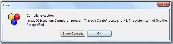 """【已解决】antrlworks调试出错:Compiler exception: java.io.IOException Cannot run program """"\javac"""": CreateProcess error=2 The system cannot find the file specified"""