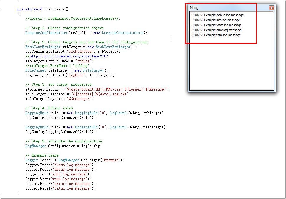 indeed create new Nlog window