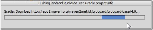 still downloading files for gradle