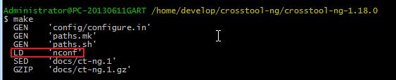 【记录】Cygwin下配置编译和安装crosstool-ng