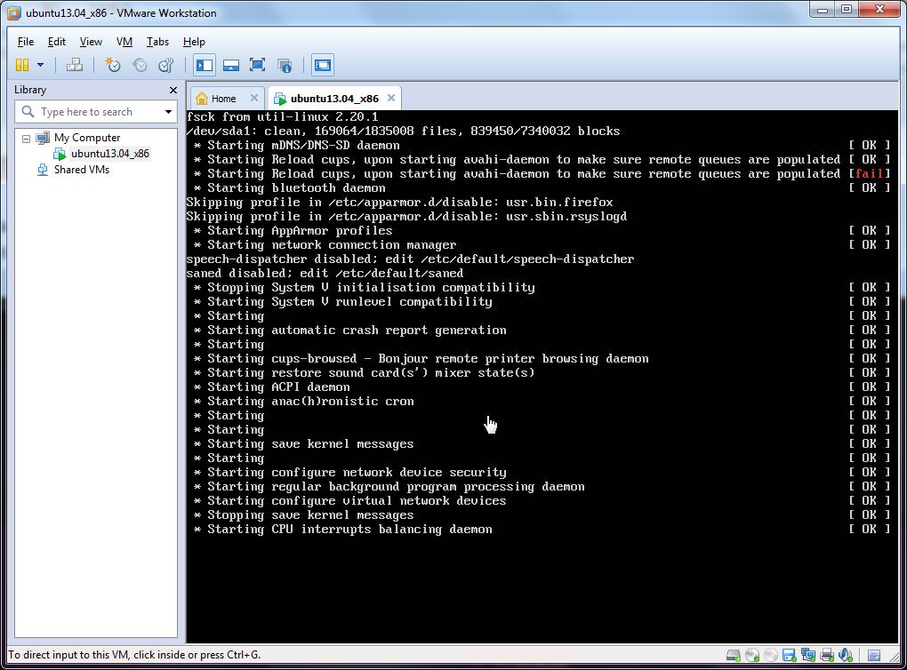 start ubuntu fsck from util-linux 2.20.1 dev sda1