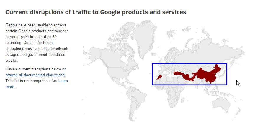 【技术趣闻】google记录了被河蟹的地区且还有专门说明