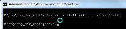 go install github.com user hello done