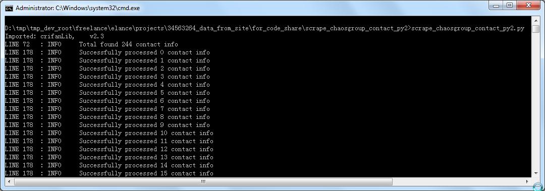 【代码分享】Python代码:scrape_chaosgroup_contact(Python 2.x版本和Python 3.x版本) – 抓取chaosgroup.com中的联系人信息保存为excel