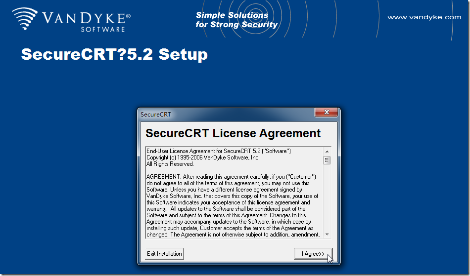 securecrt setup license