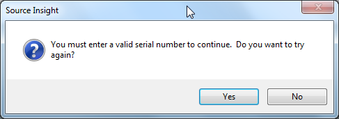 your must enter a valid serial number