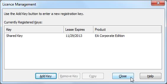 added key show shared key lease expires 2013 11 29