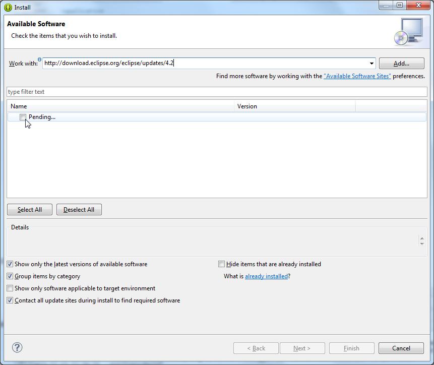 after input update link show pending