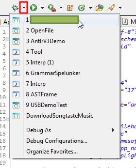 debug list choose this app