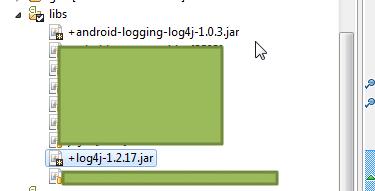 import android-logging-log4j-1.0.3.jar and log4j-1.2.17.jar lib_thumb