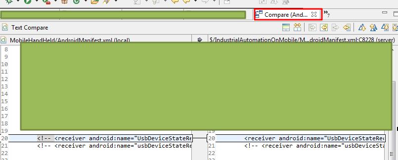 still call default file diff tab