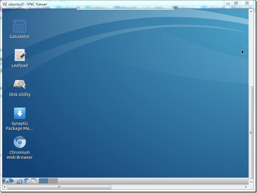 vnc show desktop ubuntu 0 with taskbar