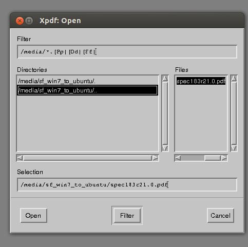 found pdf then open in xpdf