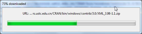 downloading xml lib for r language