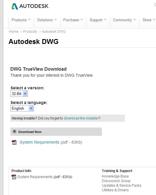 dwg trueview download 32bit english
