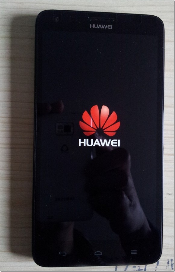 after power huawei honor g750-t01 main screen show huawei logo