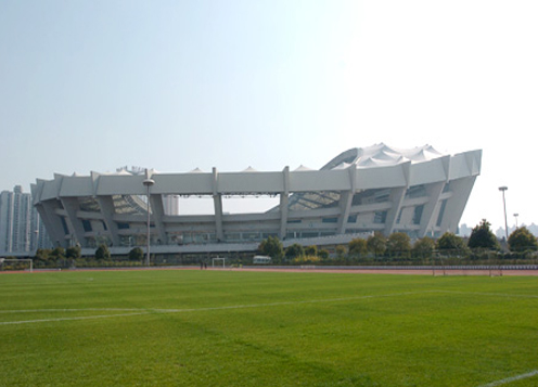 shanghai stadium real effect far view structure