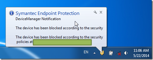 symantec endpoint protection disable usb