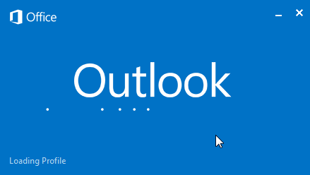 first run outlook loading profile