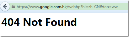 other page show 404 error