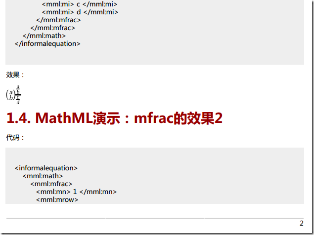 collect many mathml code and example 4