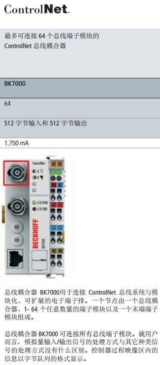 automation bus interface look like controlnet