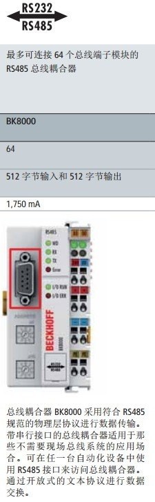 automation bus interface look like rs232 rs485