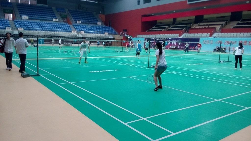 dushu lake badminton court inside from entry