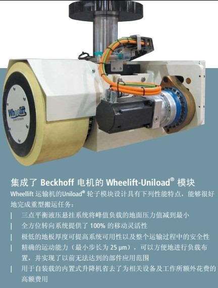 integrated beckhoff motor wheelift-uniload module