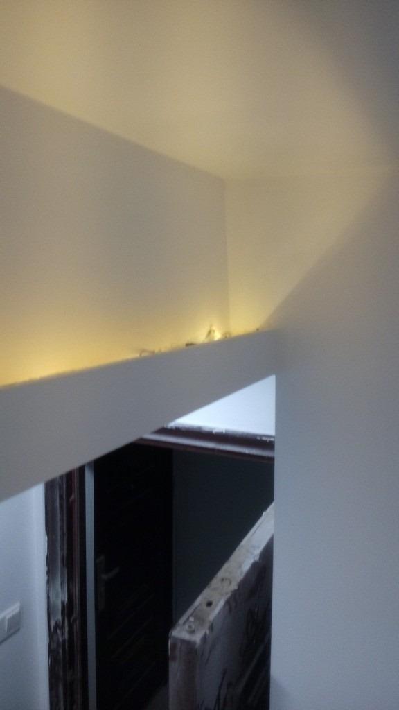 【记录】20140927装修第67天之调整灯带和安装后的灯具