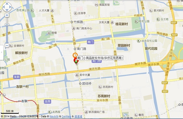 suzhou south door small stuff wholesale market map middle view