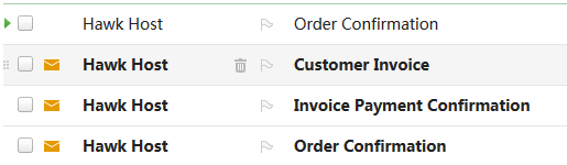 also got hawk host customer invoice and other mails