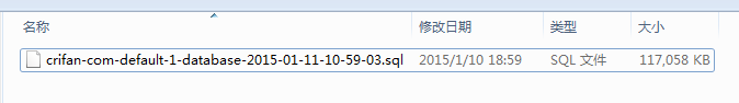 finally decide use previously downloaded some version sql file