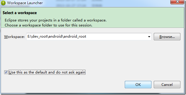 new adt bundle eclipse workspace launcher
