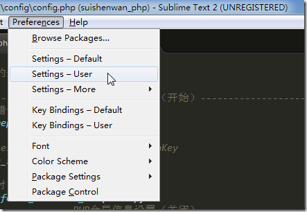 sublime preferences settings user