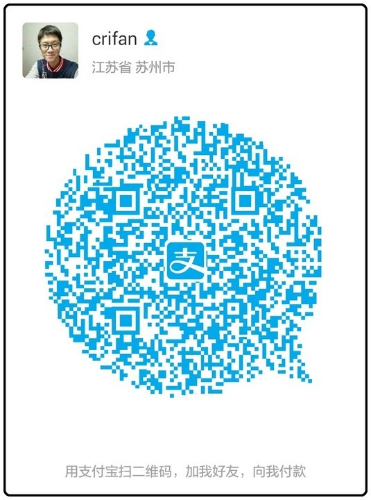 saved alipay qrcode of self