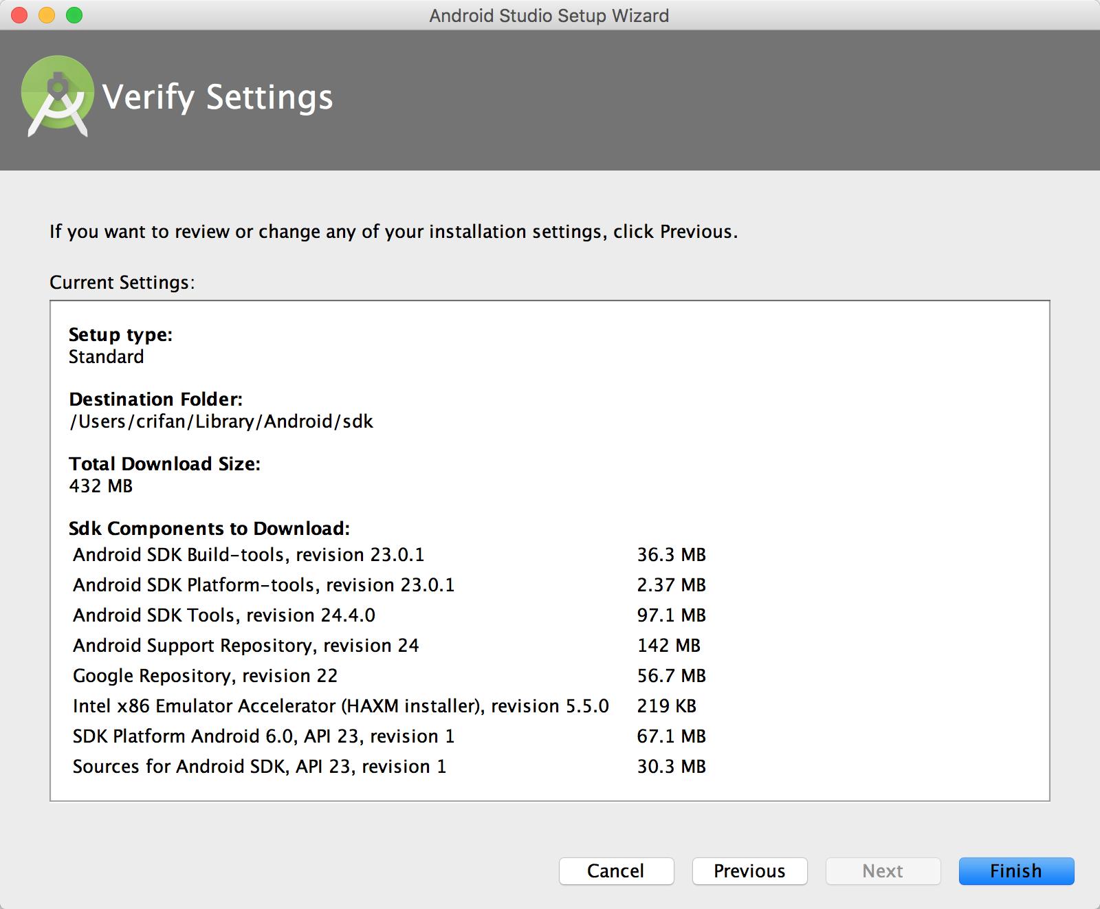 verify setting
