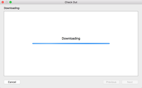 show downloading note