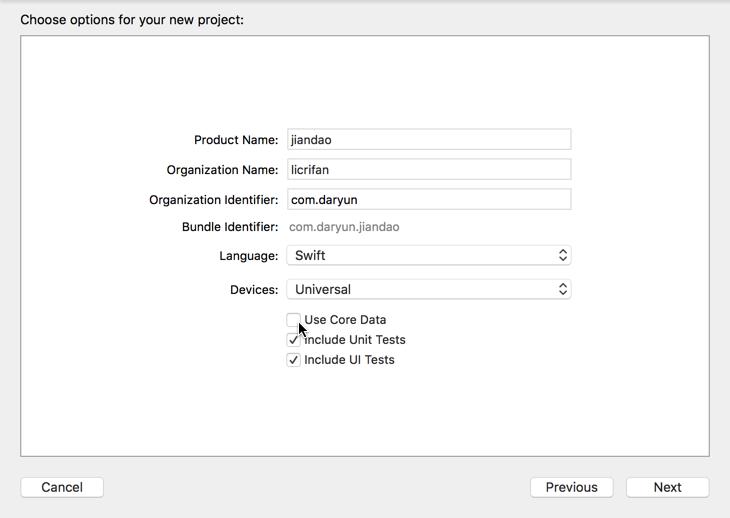 [已解决]Xcode创建iOS Swift项目时的Use Core Data是做什么的