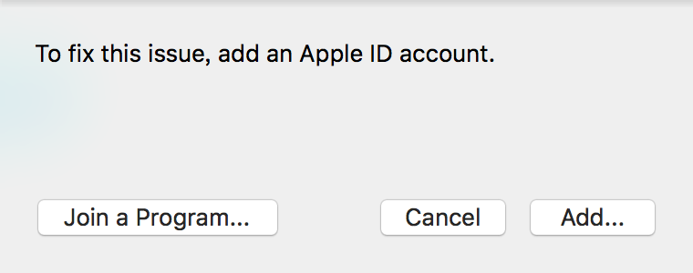 To fix this issue,add an Apple ID account