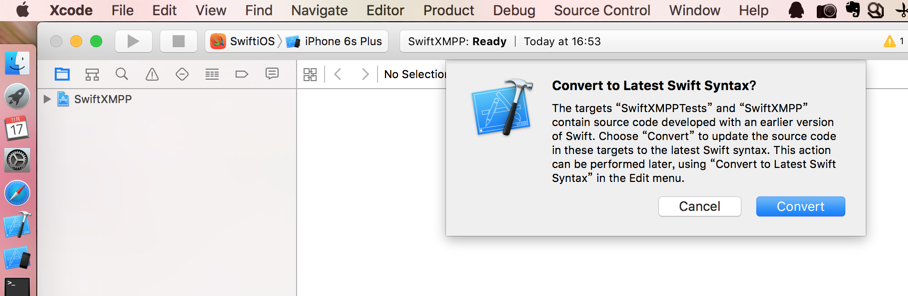 notice convert to latest swift syntax