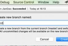 【记录】Xcode中git打tag新建分支