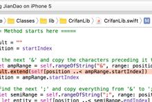 [已解决]swift中代码出错:Value of type String has no member extend