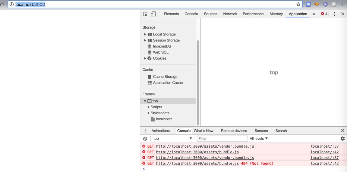 已解决】webpack-dev-server出错:localhost无法加载bundle js