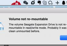 【已解决】Mac中Mounty无法读写移动硬盘:Volume not re-mountable